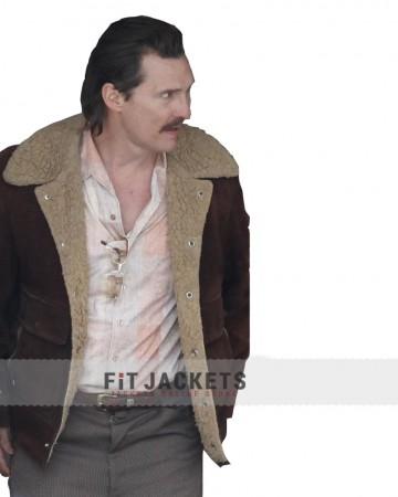 Matthew McConaughey White Boy Rick Shearling Jacket