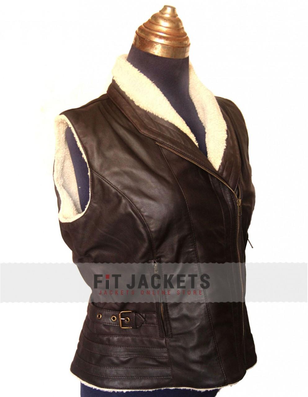 Andrea Laurie Holden Jacket Fur