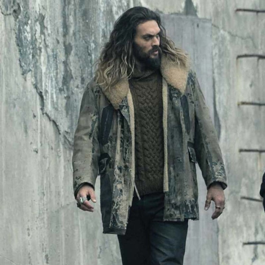 Jason Momoa Vest: Arthur Curry Justice League Leather Coat