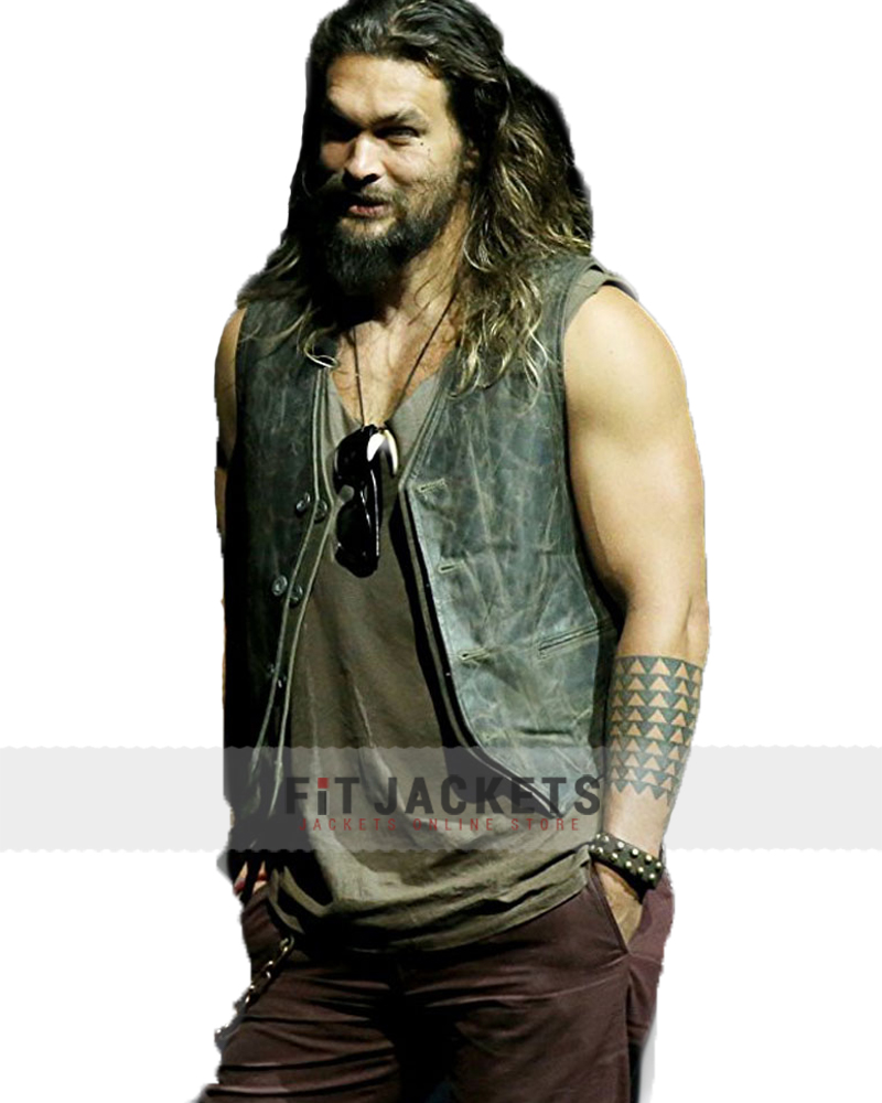 Jason Momoa Vest: Jason Momoa Justice League Leather Vest -Fit Jackets