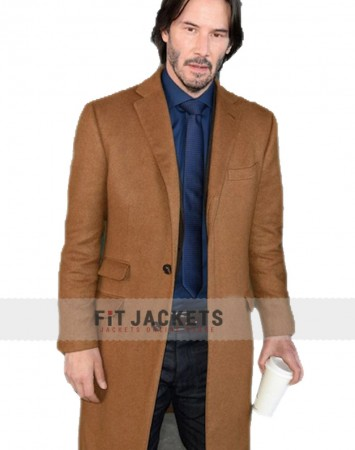 Siberia Keanu Reeves Trench Wool Coat