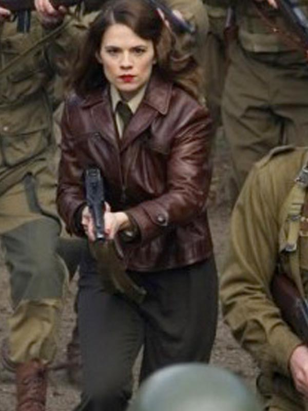The First Avenger Captain America Peggy Carter Hayley Atwell Jacket Fit Jackets