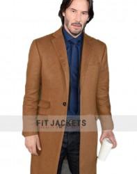 Siberia Keanu Reeves Trench Wool Coat