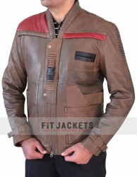 Distressed Star Wars Finn Brown Jacket