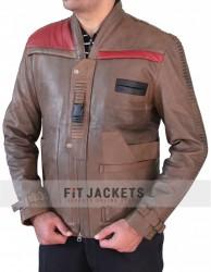 Distressed Star Wars Finn Brown Jacket