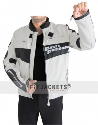 Black AND White Vin Diesel Fast And Furious 7 Jacket