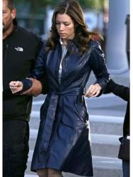 A Team Jessica Biel Coat