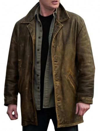 Dean Winchester Leather Jacket | Distressed Supernatural Jacket Coat