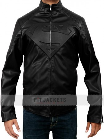 Black Superman Smallville Jacket