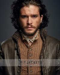 Kit Harington Leather Jacket